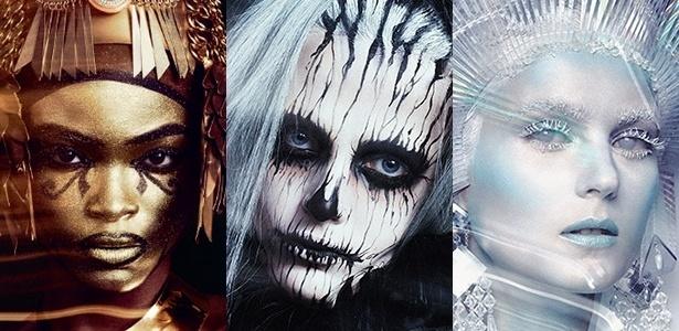 Deusa Egípsia, Halloween Zumbi e Rainha do Gelo são alguns dos visuais que podem ser feitos no serviço de maquiagem temática - Divulgação