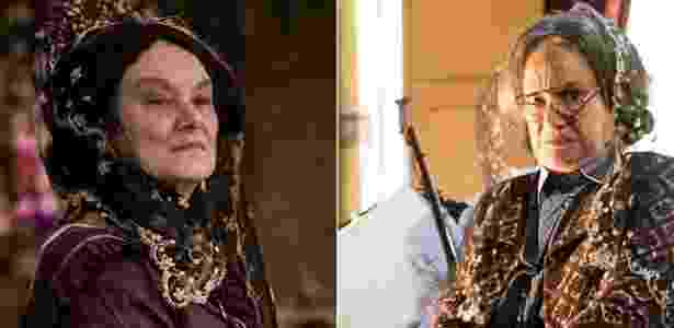 """Interpretada por Selma Egrei, Encarnação, a matriarca dos De Sá Ribeiro, tem 100 anos agora em """"Velho Chico"""" - Montagem/Reprodução/TV Globo"""