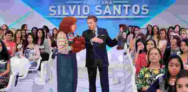 Silvio Santos recebe Fofão em seu programa no SBT, que irá ao ar neste domingo (5) - Lourival Ribeiro/SBT