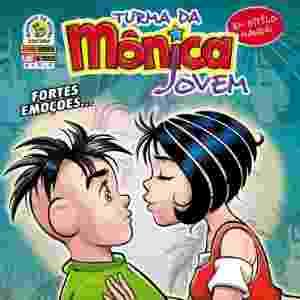Capa da edição número 4 que mostrou o primeiro beijo entre Cebolinha e Mônica - Reprodução