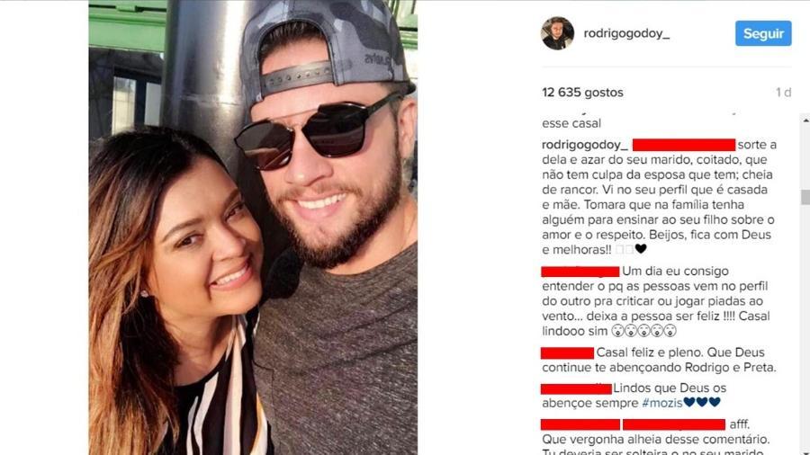 Marido de Preta Gil, Rodrigo Godoy rebate seguidora que fez comentário sobre seu casamento - Reprodução/Instagram/rodrigogodoy_