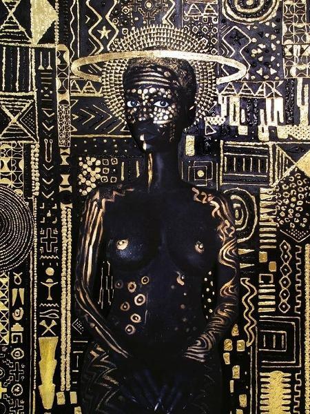 """Obra de Lina Iris Viktor, que acusa videoclipe de """"Pantera Negra"""" de plágio - Reprodução/Facebook"""