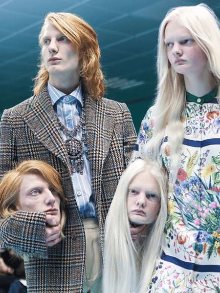 O desfile de inverno 2018 da Gucci na semana de moda de Milão comparou o trabalho do estilista com o de um cirurgião - Reprodução/Instagram