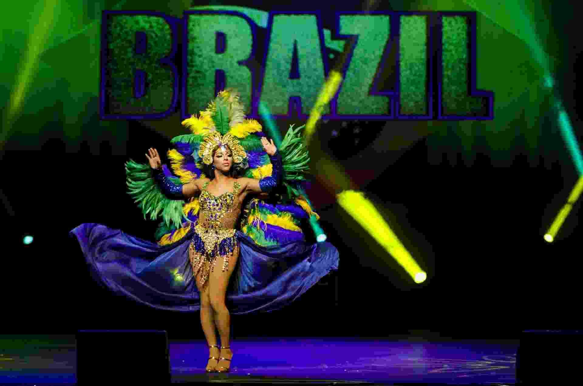"Shangela veste as cores do Brasil no ""RuPaul's Drag Race: Werq The World"" - Mariana Pekin/UOL"