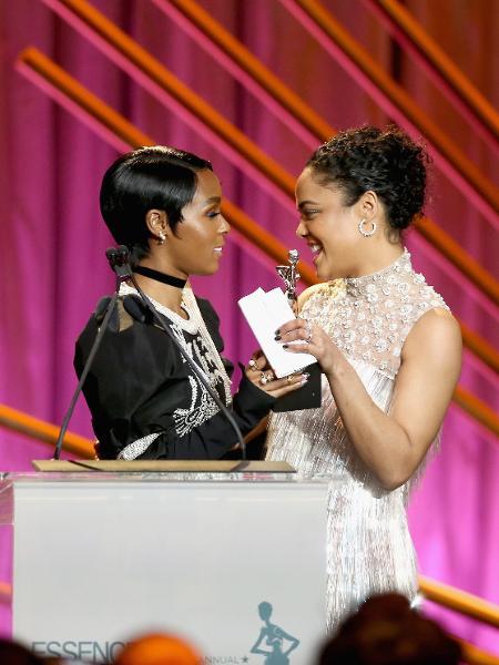 Janelle Monáe e Tessa Thompson em premiação nos EUA - Rich Polk/Getty Images
