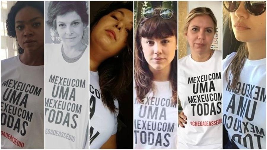 Atrizes globais se engajaram em campanha contra o assédio em 2017 após denúncia contra o ator José Mayer - Reprodução/Instagram