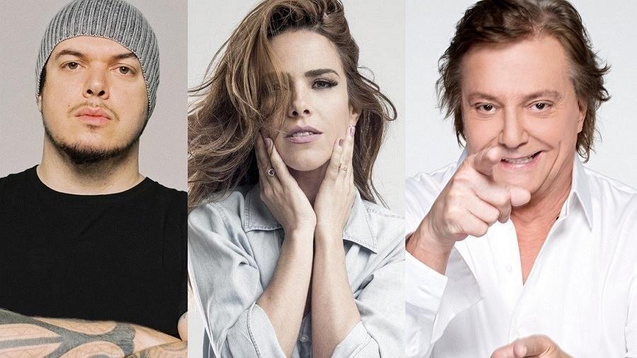 Iggor Cavalera, Wanessa Carmago e Fábio Jr; todos eles já mudaram de nome artístico - Divulgação/Montagem