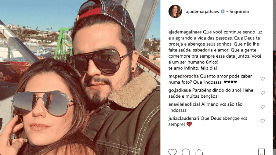 Jade Magalhães e Luan Santana - Reprodução/Instagram
