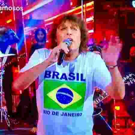 Wellington Muniz, o Ceará, levou 9.7 do juri pela apresentação de Mick Jagger  - Reprodução/TV Globo - Reprodução/TV Globo