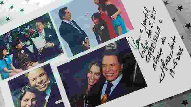 Silvio Santos autografou a foto de sua produtora, Gabriella Diniz, no Em Nome do Amor - Reprodução/Instagram
