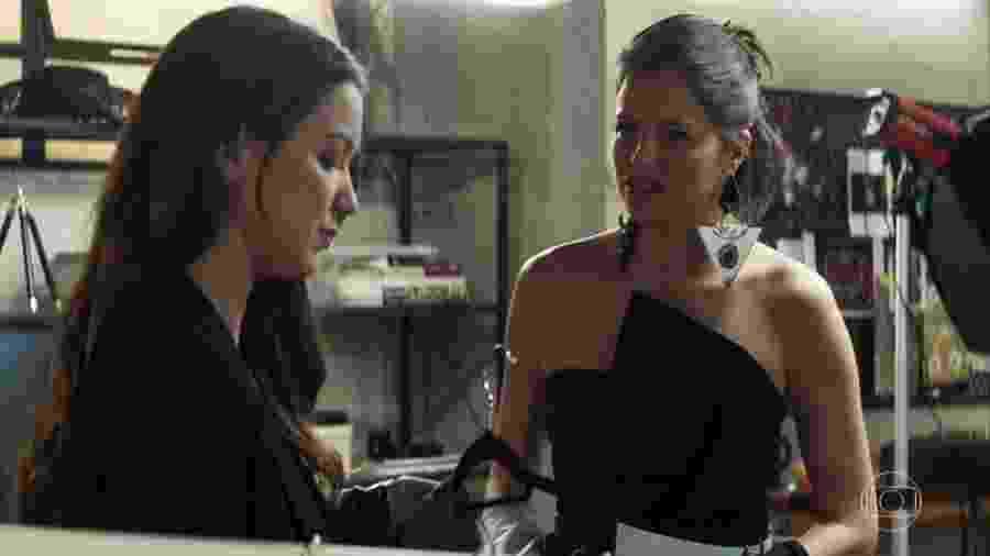 Fabiana e Josiane em A Dona do Pedaço - Reprodução/TV Globo