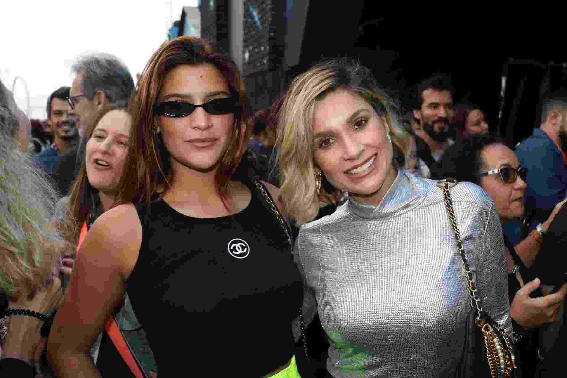 Flávia Alessandra e a filha, Giulia Costa, vão ao show de Thiago Fragosos no Rock in Rio 2019 - Rogério Fidalgo/AgNews