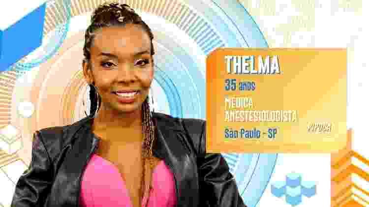 Thelma - Divulgação/TV Globo - Divulgação/TV Globo