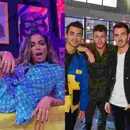 Anitta e Jonas Brothers - Reprodução / Instagram