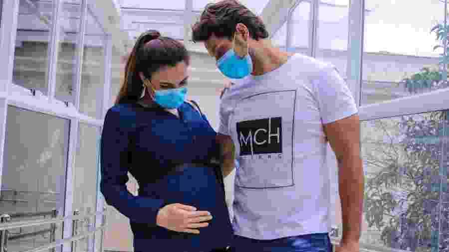 Kamilla Salgado e Eliéser participaram do BBB 13; modelo está no sétimo mês da gestação - Thiago Duran/AgNews