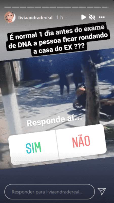 Story de Lívia Andrade - Reprodução/Instagram - Reprodução/Instagram