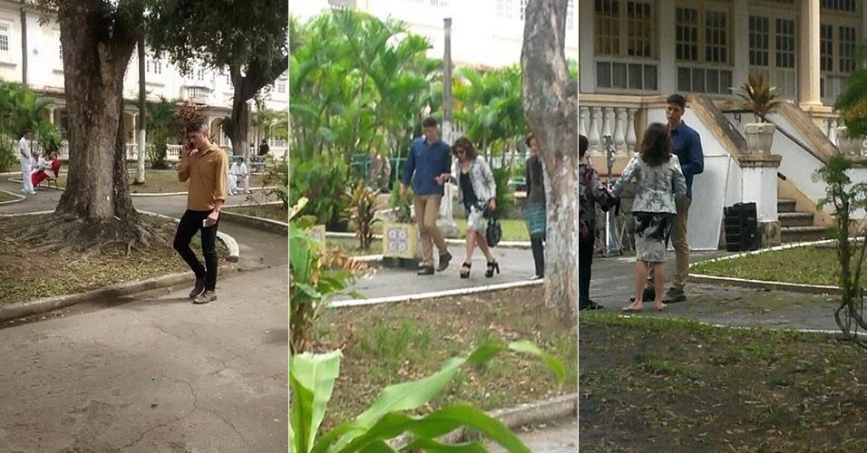 """10.set.2015 - Reynaldo Gianechinni grava cenas de """"Verdades Secretas"""" em Casa de Repouso na Praça Seca, em Jacarepaguá, Zona Oeste do Rio de Janeiro"""