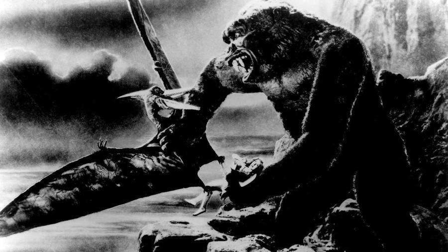 """Cena do filme """"King Kong"""" (1933), de Merian C. Cooper e Ernest B. Schoedsack - Reprodução"""
