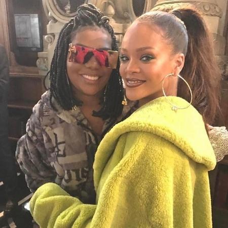 Ludmilla tieta Rihanna em evento de moda - Reprodução/Instagram Rihanna
