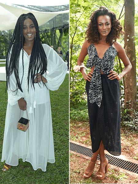 A cantora Iza e a modelo e apresentadora Pathy de Jesus - Manuela Scarpa/Brazil News