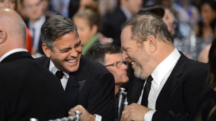 George Clooney e Harvey Weinstein - Reprodução