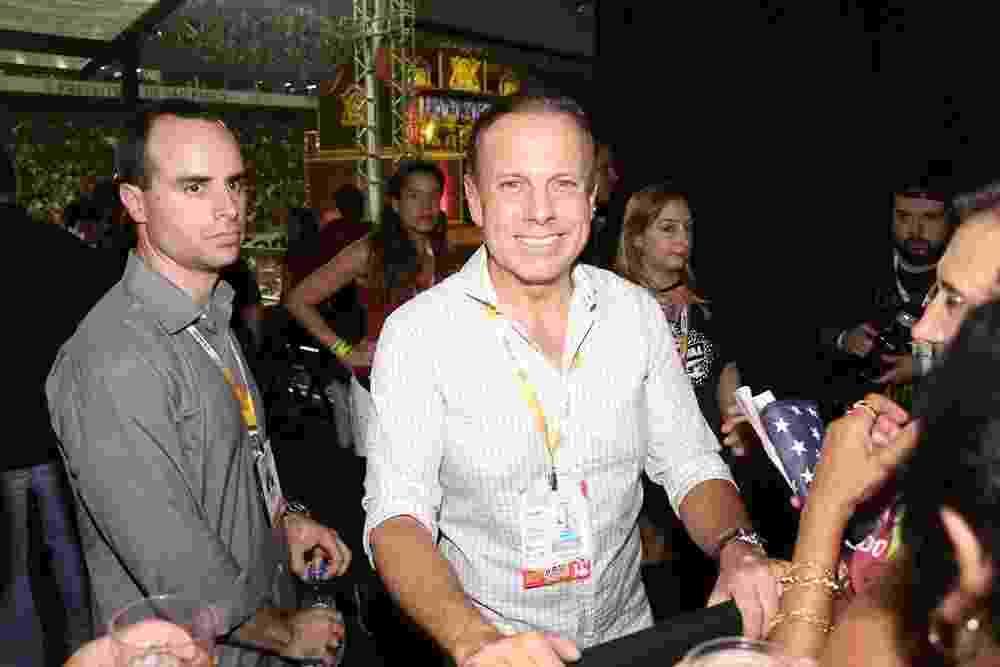O prefeito de São Paulo, João Doria, no sambódromo do Anhembi - Cláudio Augusto/Brazil News