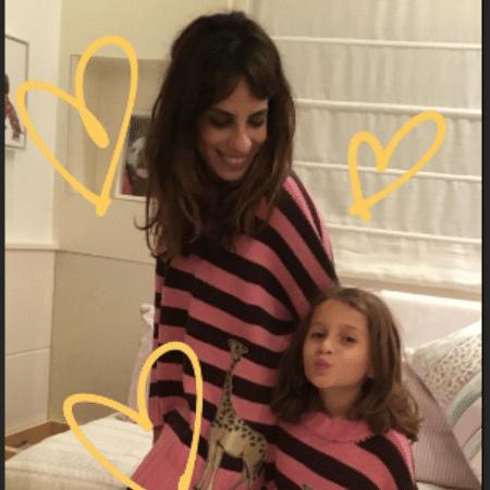 Maria Ribeiro com Ella Felipa, filha de Fábio Assunção - Reprodução/Instagram