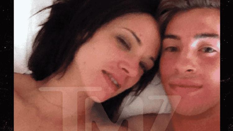 Asia Argento e Jimmy Bennett - Reprodução/TMZ - Reprodução/TMZ
