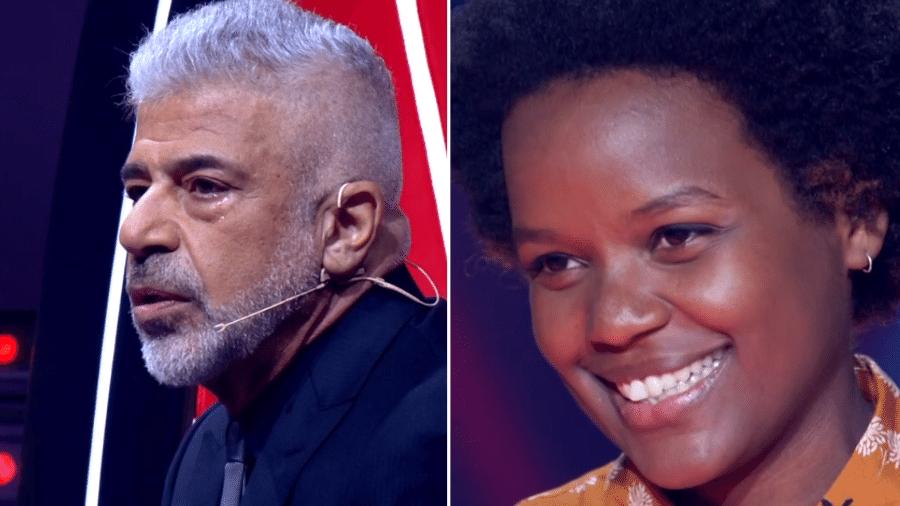 """Lulu Santos se emociona com apresentação de Priscila Tossan no """"The Voice Brasil"""" - Reprodução/TV Globo"""