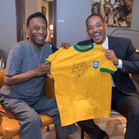 Will Smith ganha camiseta de Pelé - Reprodução/Instagram