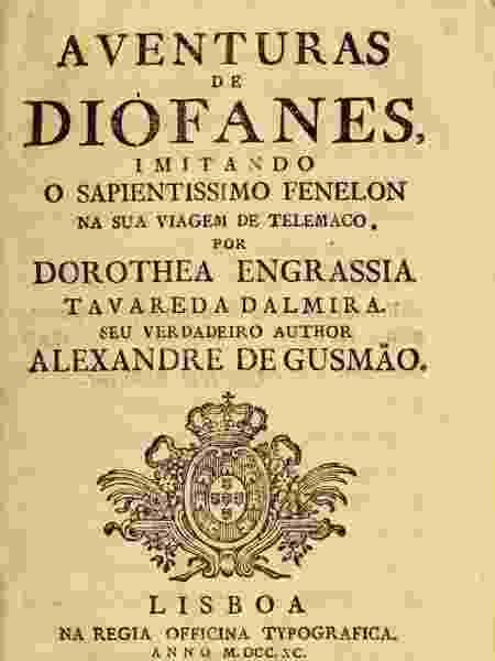 livro aventuras de diófanes - Arquivo Biblioteca Brasiliana Guita e José Mindlin - Arquivo Biblioteca Brasiliana Guita e José Mindlin