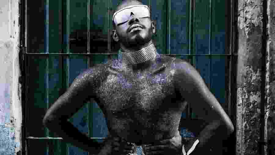 Artista do coletivo Afrobapho, que tem referência futurista - Divulgação