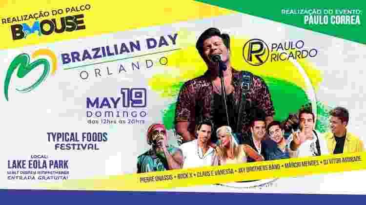 Atrações do Brazilian Day, evento que celebra a cultura brasileira, em Orlando (EUA) - Divulgação
