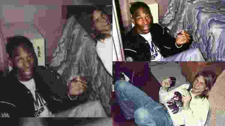 Montagem e origem das fotos de Snoop Dogg e Kurt Cobain - Reprodução - Reprodução