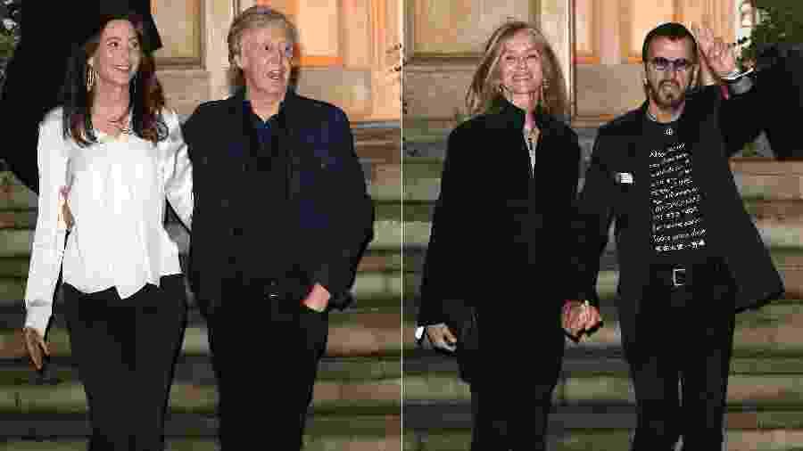 Os ex-Beatles Paul McCartney e Ringo Starr se reúnem para comemorar 50º aniversário do álbum Abbey Road - Getty Images