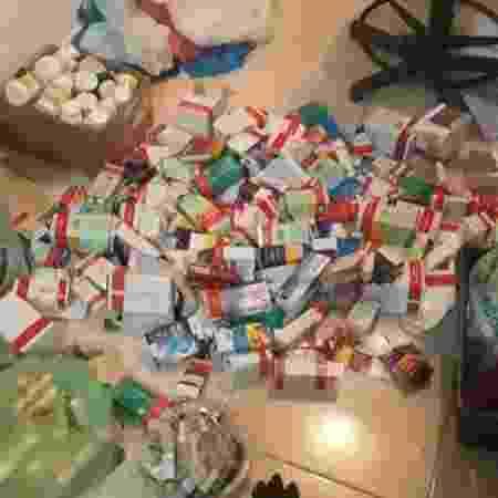 Quantidade de medicamentos que Ana toma a cada três meses - Arquivo pessoal