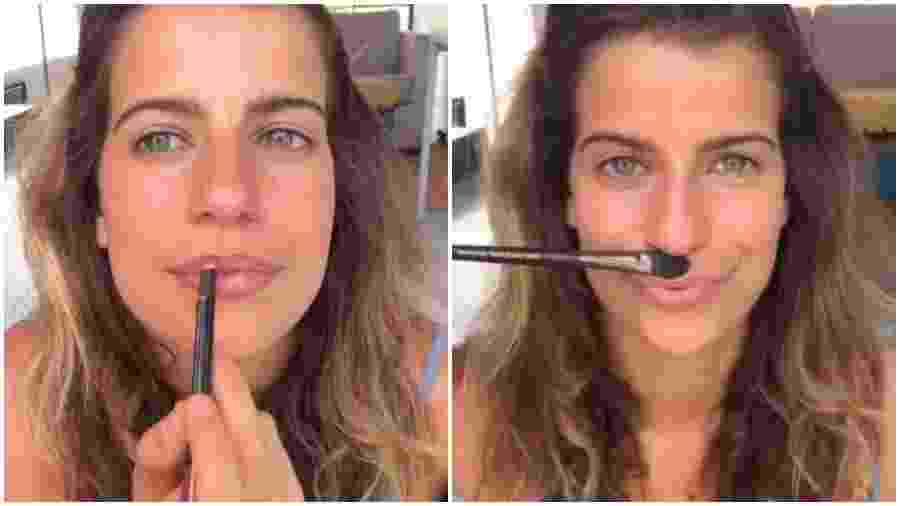 Maria Bopp fez vídeo sobre maquiagem com tom político em seu Instagram - Reprodução/Instagram
