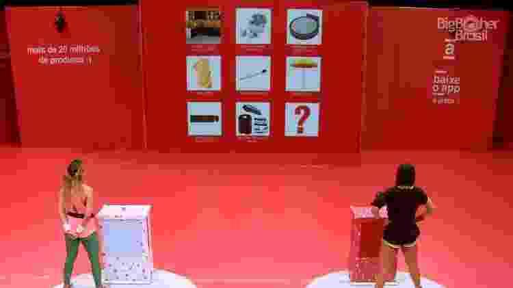 Durante prova - Reprodução/Globoplay - Reprodução/Globoplay