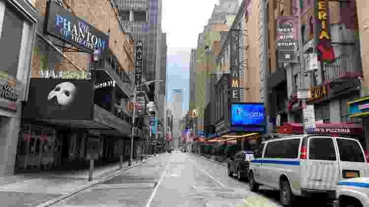Shows da Broadway permanecem fechados em Nova York devido à pandemia do coronavírus - Getty Images - Getty Images