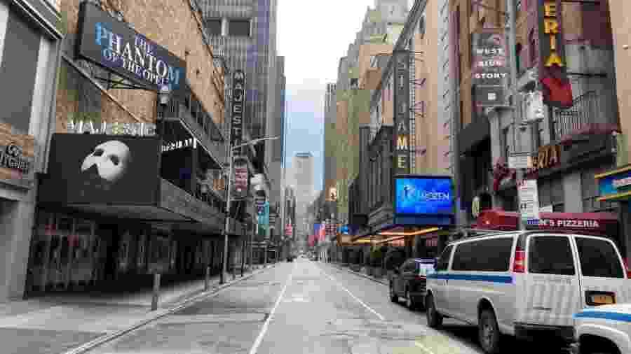 13.05.2020 - Teatros fechados na Broadway, em Nova York (EUA) - Getty Images