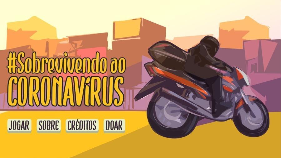"""Imagem do jogo """"Sobrevivendo ao Coronavírus"""" - Divulgação"""
