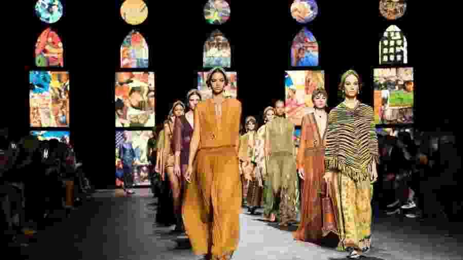 Dior na Semana de Moda de Paris com a coleção primavera/verão 2021 - Getty Images