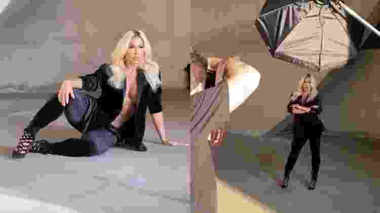 Gracyanne exibiu cabelo loiro durante ensaio fotográfico - Reprodução/Instagram - Reprodução/Instagram