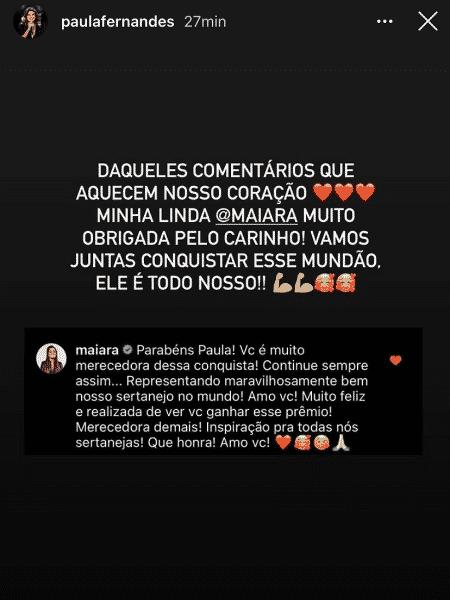 paula fernandes - Reprodução/Instagram/@paulafernandes - Reprodução/Instagram/@paulafernandes
