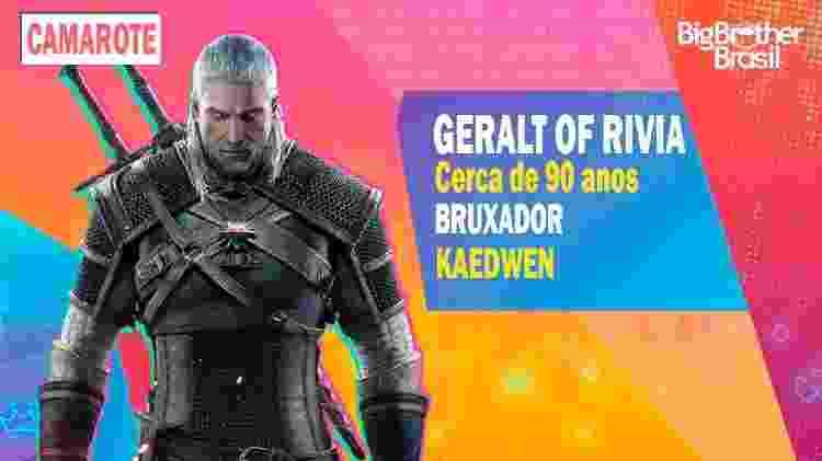 Geralt no BBB - Montagem: Allan Francisco / Divulgação (CD Projekt) - Montagem: Allan Francisco / Divulgação (CD Projekt)