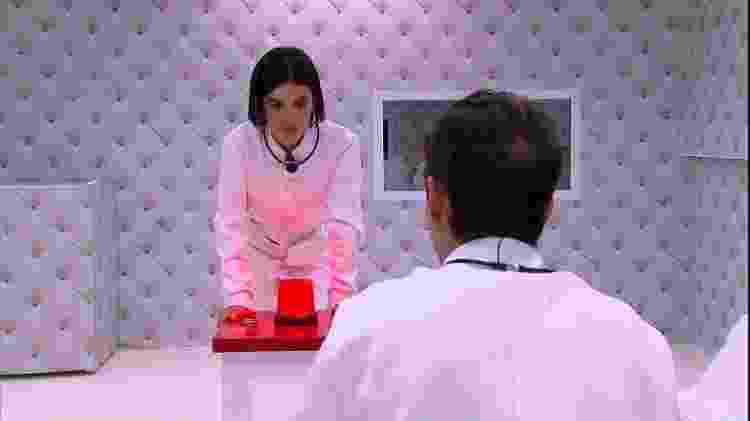 Manu Gavassi no quarto branco do 'BBB 20' - reprodução/Globo - reprodução/Globo