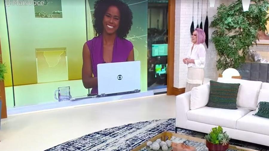 """Maju Coutinho apareceu no """"Mais Você"""" de Ana Maria Braga para informar sobre vacina da covid-19 - Reprodução/TV Globo"""