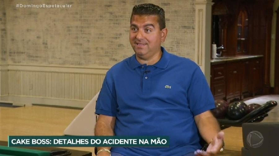 Cake Boss dá detalhes do acidente na mão - Reprodução/RecordTV