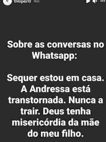 Thiago Lopes - Reprodução/Instagram - Reprodução/Instagram