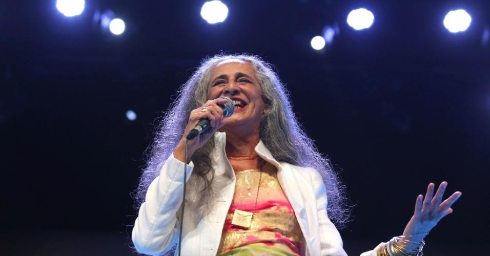 26.jan.2016 - Maria Bethânia se apresenta no Vivo Rio, no show de Verão da Mangueira